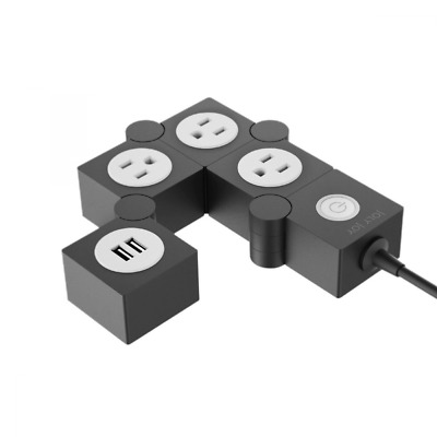 Flexible Power Strip Surge Protector with USB, Multi Pivot Outlet With Rotating