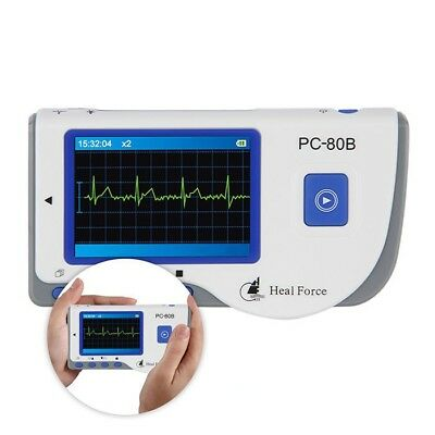 LCD Screen Easy ECG Monitor Measuring Heart Cardiac Detector PC-80B