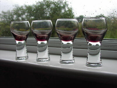 """Caithness Glass Peat Coloured Bowl """"Canisbay"""" Wine Glass 140ml x 4"""
