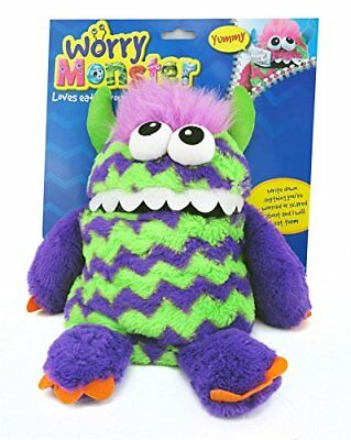 Worry Monster Plush Soft Toy purple  green