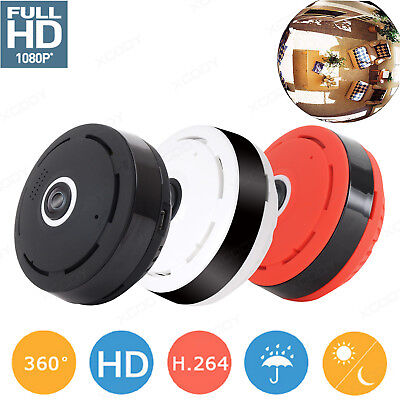 360° Mini 1080P HD Panoramic Wireless Wifi IP Hidden Camera Two Way Audio Video