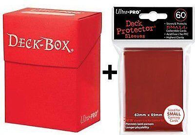 Ultra Pro Deck Box  60 Small Size Protector Sleeves - Red - Yu-Gi-Oh