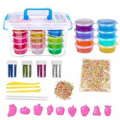 DOMIRE Crystal Slime Making Kit - 8 Pack Slime,1 pack foam beads,4 pack Glitter