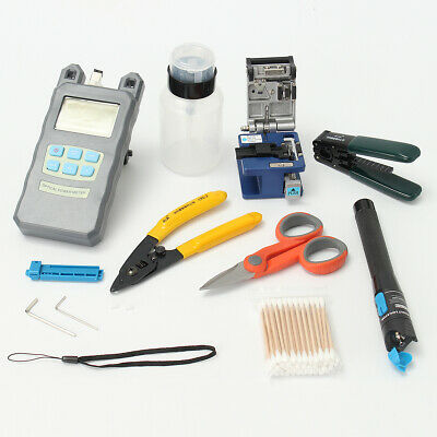 [NEW] LiteArk TK16 11-IN-1 Fiber Optic FTTH Tools Kit Power Meter FC-6S Fiber Cl