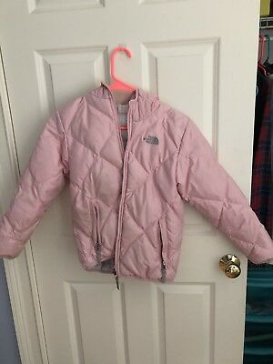 754703f9a6 NORTH FACE REVERSIBLE Down Jacket Coat - Black Plaid - Girls 14-16 ...