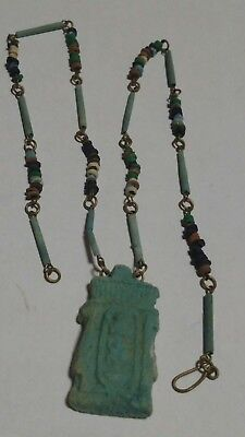 Egyptian Pharaoh's Necklace Mummy Beads AMARNA Amulet Hand Beaded Terracotta 20""