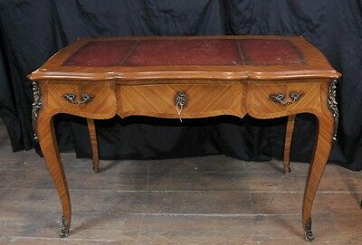 Antique French Desk - Bureau Plat Writing Table Extending Empire Desks