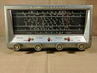 HALLICRAFTERS S-38E TUBE Ham Radio Shortwave Receiver Tested Works