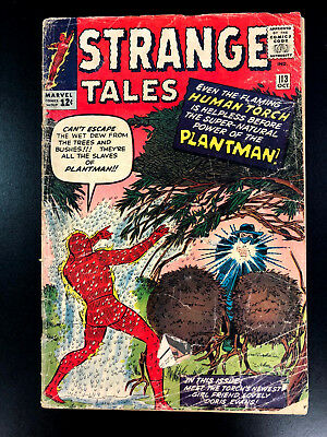 Strange Tales #113 1St Appearance Of The Plantman Marvel Comics 1963 Free Ship