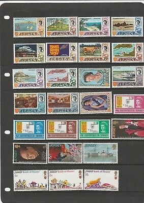 180 Jersey Mnh/mh Stamps From 1969 To 1080