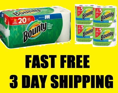 Bounty Select-a-Size Paper Towels, White, 8 Huge Rolls NO TAX, FAST 3 DAY SHIP!