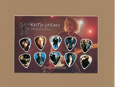Keith Urban Matted Picture Guitar Pick Collector's Edition Coming Home Female
