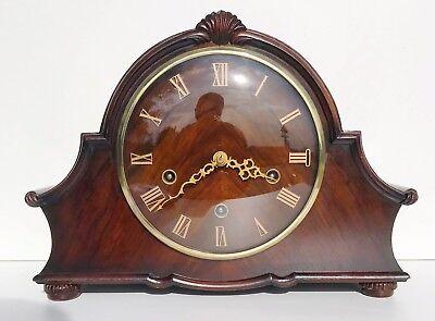 Smiths Enfield Walnut Quarter Chiming Mantle Clock