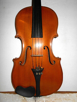 "Old Antique Vintage 1800s ""Hopf"" 2 Pc Back Full Size Violin - No Reserve"