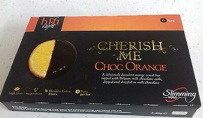 A PACK OF SLIMMING WORLD CHOCOLATE ORANGE HIFI LIGHT CEREAL BARS Pack of 6 Bars.