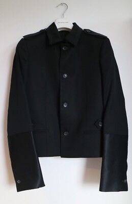 Balenciaga Two Tone Military Silky Slveeves Short Jacket Blazer