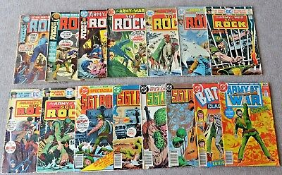 DC Lot of 15 Sgt. Rock Comics OUR ARMY AT WAR BATTLE CLASSIC WAR SHOOTING COMBAT