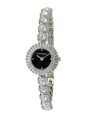 Wittnauer Women's Quartz Crystal Accents Silver-Tone Bracelet 22mm Watch WN4081