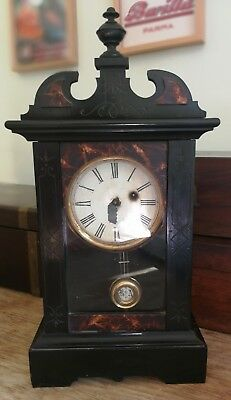 Antique Phillip Haas & Sohne Mantel clock, parts or repair