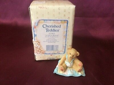 Enesco Cherished Teddies A Gift To Behold Baby Boy - S