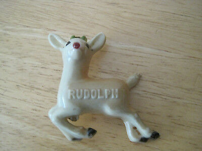 Vintage Celluloid Rudolph Christmas Pin By Rubison Inc. Usa