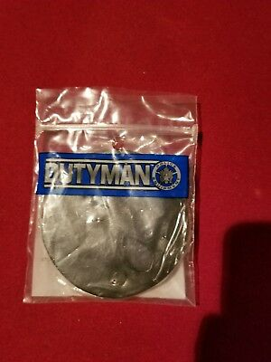 """New DutyMan, 5304,Leather Badge Holder Clip On, Fits 1-1/2"""" Belt"""