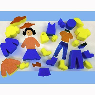 Make Your Own Person Painting Sponges Set for Kids Crafts Pack of 23 Body Shapes