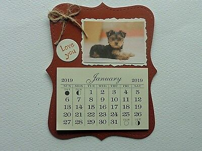 Shih Tzu Dog Lovers Love You  2019 Mini Magnetic Calendar Monthly Tear Off Pages