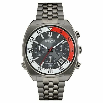 Bulova Accutron II Men's Quartz Chronograph Grey Bracelet 44mm Watch 98B253