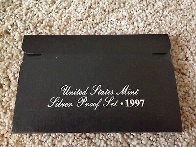 1997 United States Mint Silver Proof Set 5 Piece Set Box