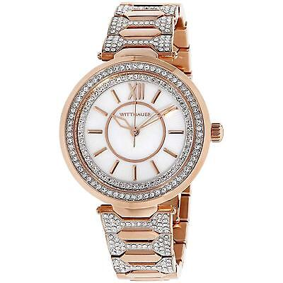 Wittnauer Women's Quartz Crystal Accents Rose Gold-Tone Bracelet Watch WN4025
