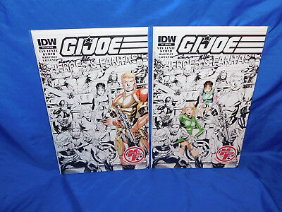 GI JOE #5 Heroes & Fantasies Partial Color Sketch Signed Variant Limited to 250