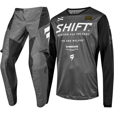 NEW Shift MX 2019 WHIT3 Label Smoke Blue Jersey Pants Adult Motocross Gear Set