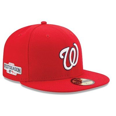 8428fcbaa New Era Washington Nationals Red 2016 Postseason Side Patch 59FIFTY Fitted  Hat
