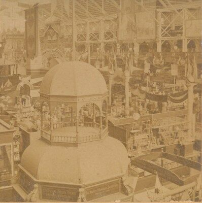 1894 California Midwinter Fair Silver Booth Liberal Arts Building Stereoview