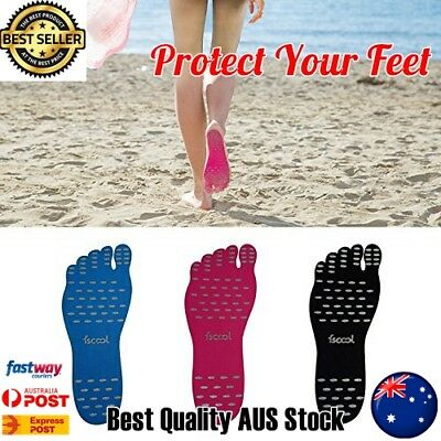 Beach Sole Stick on Shoes Soles Sticky Pads Barefoot Soles Waterproof Non-slip