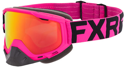 FXR BOOST Snow Winter Sports GOGGLES - Electric Pink/ Black w/ Smoke Lens - NEW
