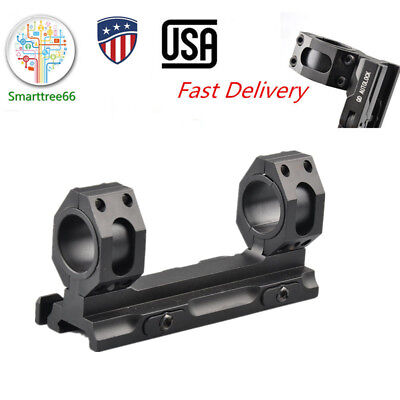 US QD Dual 25-30mm Ring Mount Rifle Scope Rail Cantilever Extention Picatinny