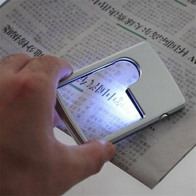 40x 25mm Power Jeweler Illuminated Loupe LED Loop Magnifier Magnifing Glass MX