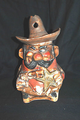 "Vintage Original SHERIFF Cookie Jar!!!  NOT A REPRO!! Marked ""726  USA"""