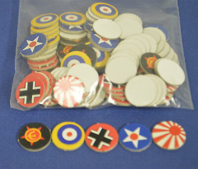 AXIS & ALLIES Board Game 1984  Replacement Board Markers 100pcs