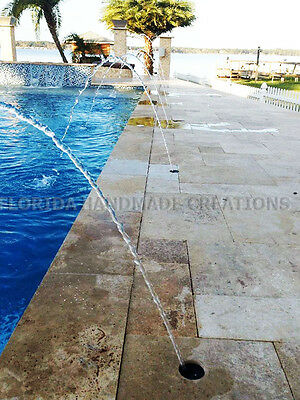 SWIMMING POOL SPA Fountain Deck Jet Water Fall Stream Feature Arc 4 Pack