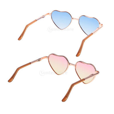 63b058f732 2pcs 1 6 Fashion Heart Shaped Frame Glasses for 12   Blythe Dolls Accessory