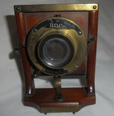 Antique Wollensak R.O. Co. camera lens brass Rapid Rectilinear