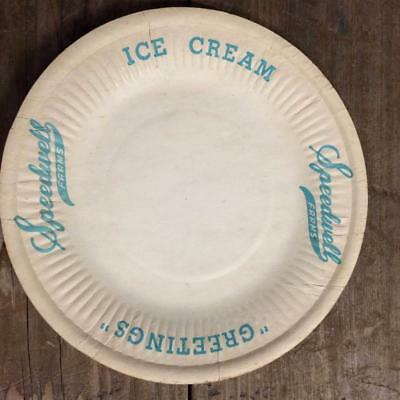 Fall River, Mass Ma  Speedwell Farms Ice Cream Plates Late 1940's- Early 1950's