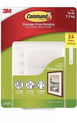 3m Command Large Picture Hanging Strips 24 Pairs Sets 48 Strips 16