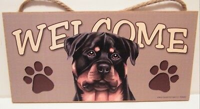 Welcome Rottweiler Dog Breed Wood Sign Plaque New