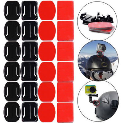 12Pcs Helmet Accessories Flat Curved Adhesive Mount For Gopro Hero 2 3 3+4 5 6