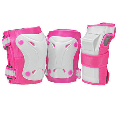 Roller Derby Cruiser Youth Girls Protection Guards Pack - Pink White