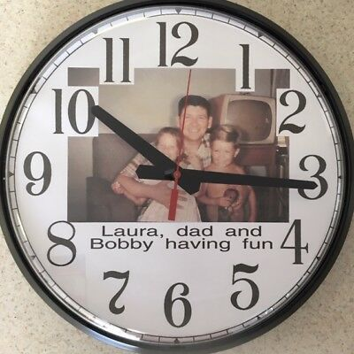 """12.5"""" Personalized Single-Photo Wall / Table Clock"""